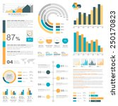 white infographics set with... | Shutterstock .eps vector #250170823