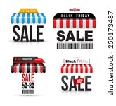 modern sale awning set. vector... | Shutterstock .eps vector #250173487