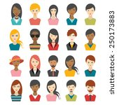 big set of multi color people... | Shutterstock .eps vector #250173883