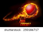 illustration of fiery cricket... | Shutterstock .eps vector #250186717