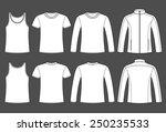 singlet  t shirt  long sleeved...   Shutterstock .eps vector #250235533