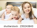 young family resting together... | Shutterstock . vector #250243843