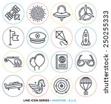 aviation line icons set. | Shutterstock .eps vector #250255333