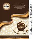 vector coffee background with... | Shutterstock .eps vector #250262323
