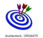 3d illustration of darts over... | Shutterstock . vector #25026475
