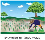 the farmer at countryside | Shutterstock .eps vector #250279327