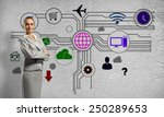 businesswoman and color... | Shutterstock . vector #250289653