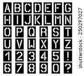 vector stencil square font... | Shutterstock .eps vector #250297027