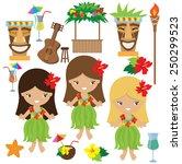 hawaii vector illustration | Shutterstock .eps vector #250299523