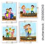 illustration of family photos | Shutterstock .eps vector #250300243