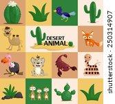 square desert animal | Shutterstock .eps vector #250314907