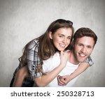 portrait of smiling man... | Shutterstock . vector #250328713