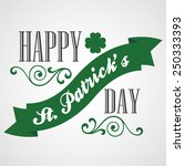 happy saint patrick's day... | Shutterstock .eps vector #250333393