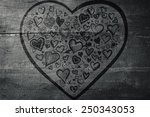 heart against overhead of... | Shutterstock . vector #250343053