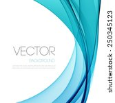 vector abstract curved lines... | Shutterstock .eps vector #250345123