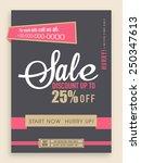 vintage sale flyer  banner or... | Shutterstock .eps vector #250347613
