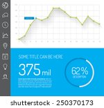 simple infographic dashboard... | Shutterstock .eps vector #250370173