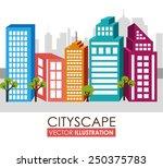 urban design over white...   Shutterstock .eps vector #250375783