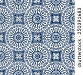 seamless pattern. vintage... | Shutterstock .eps vector #250391683