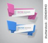 vector infographic origami... | Shutterstock .eps vector #250404943