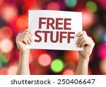 free stuff card with colorful... | Shutterstock . vector #250406647