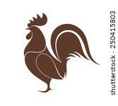 cock. isolated bird on white... | Shutterstock .eps vector #250415803
