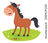 horse smiling. cheerful horse. | Shutterstock .eps vector #250419103
