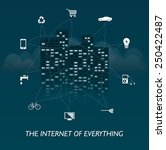 the internet of everything  ... | Shutterstock .eps vector #250422487