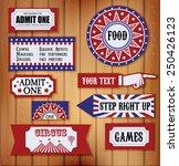 carnival signs | Shutterstock .eps vector #250426123