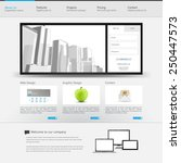 website template with city...