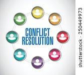 conflict resolution people...   Shutterstock .eps vector #250449973