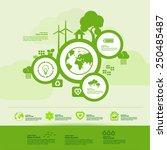green  creative ecology...   Shutterstock .eps vector #250485487