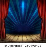 theater stage with red curtains ... | Shutterstock . vector #250490473
