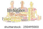 work life balance and well being | Shutterstock . vector #250495003