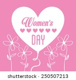 happy women day design  vector... | Shutterstock .eps vector #250507213