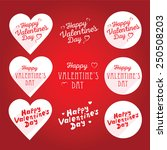 happy valentine's day lettering ... | Shutterstock .eps vector #250508203