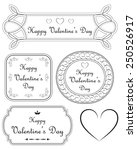 happy valentines day frames ... | Shutterstock .eps vector #250526917