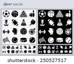 sport icons set | Shutterstock .eps vector #250527517