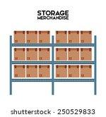 warehouse design  vector... | Shutterstock .eps vector #250529833