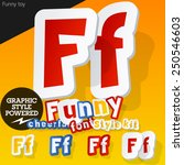 vector font in shape of funny... | Shutterstock .eps vector #250546603
