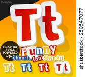 vector font in shape of funny... | Shutterstock .eps vector #250547077