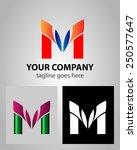 letter m logo icon design... | Shutterstock .eps vector #250577647