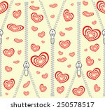 pattern with zippers and red... | Shutterstock .eps vector #250578517