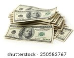 big pile of dollars | Shutterstock . vector #250583767