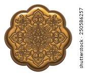 golden metallic art nouveau on...   Shutterstock . vector #250586257