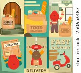 Food Delivery. Posters Set....