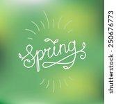vector line hand lettering  ... | Shutterstock .eps vector #250676773
