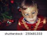 a portrait of a little handsome ... | Shutterstock . vector #250681333