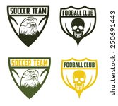 football team crests set with... | Shutterstock .eps vector #250691443
