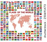 flags of the world and  map on... | Shutterstock .eps vector #250691473
